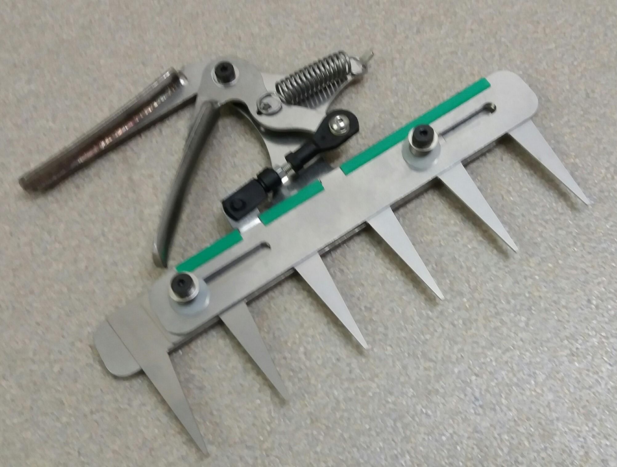 Patentschaar® Handmodel RVS 220 mm lang, steek 40 mm, 6 tanden