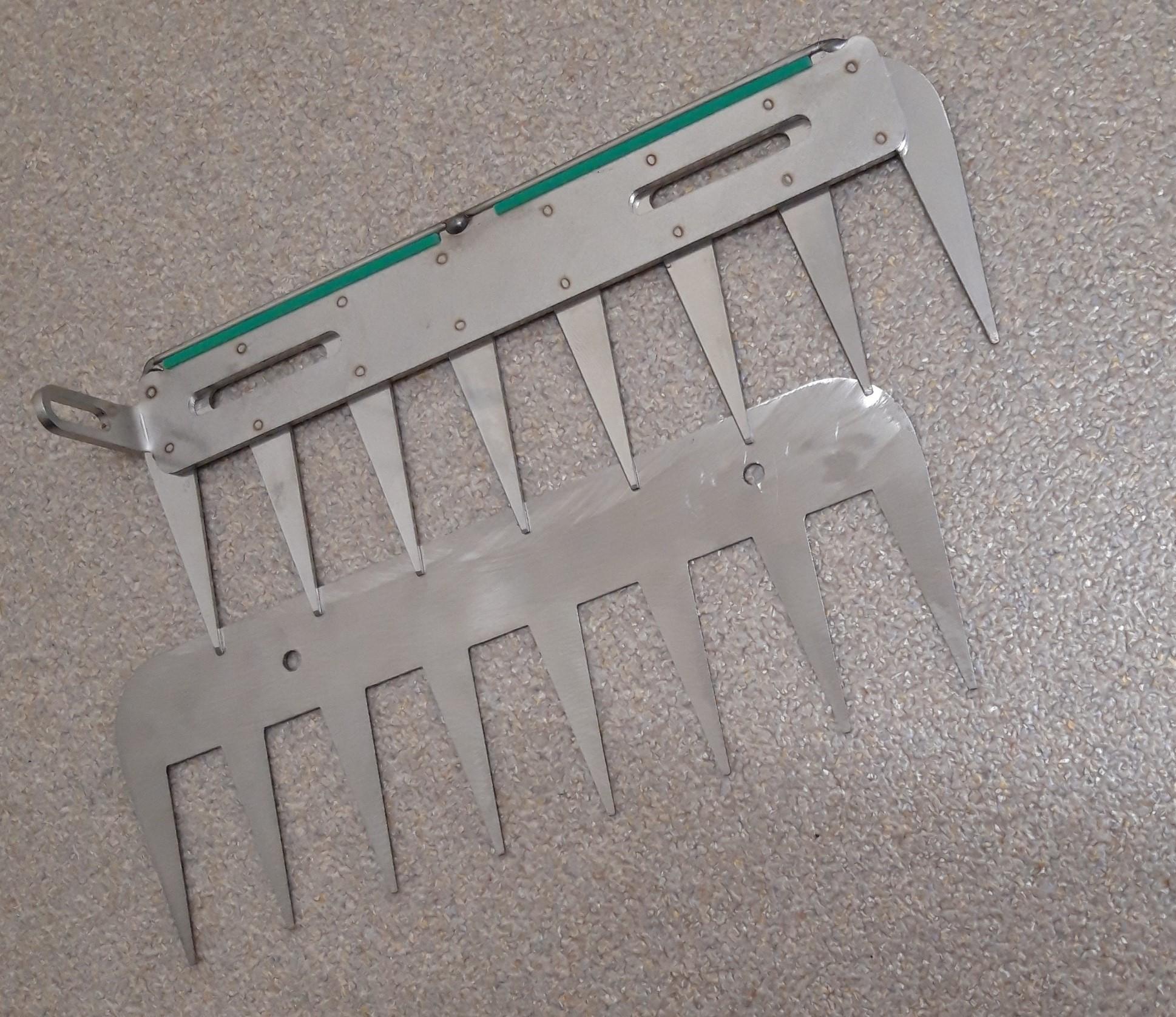 Patentschaar®  Messenset voor Basis Meerlingschaar RVS 255 mm lang, steek 30 mm, 9 tanden