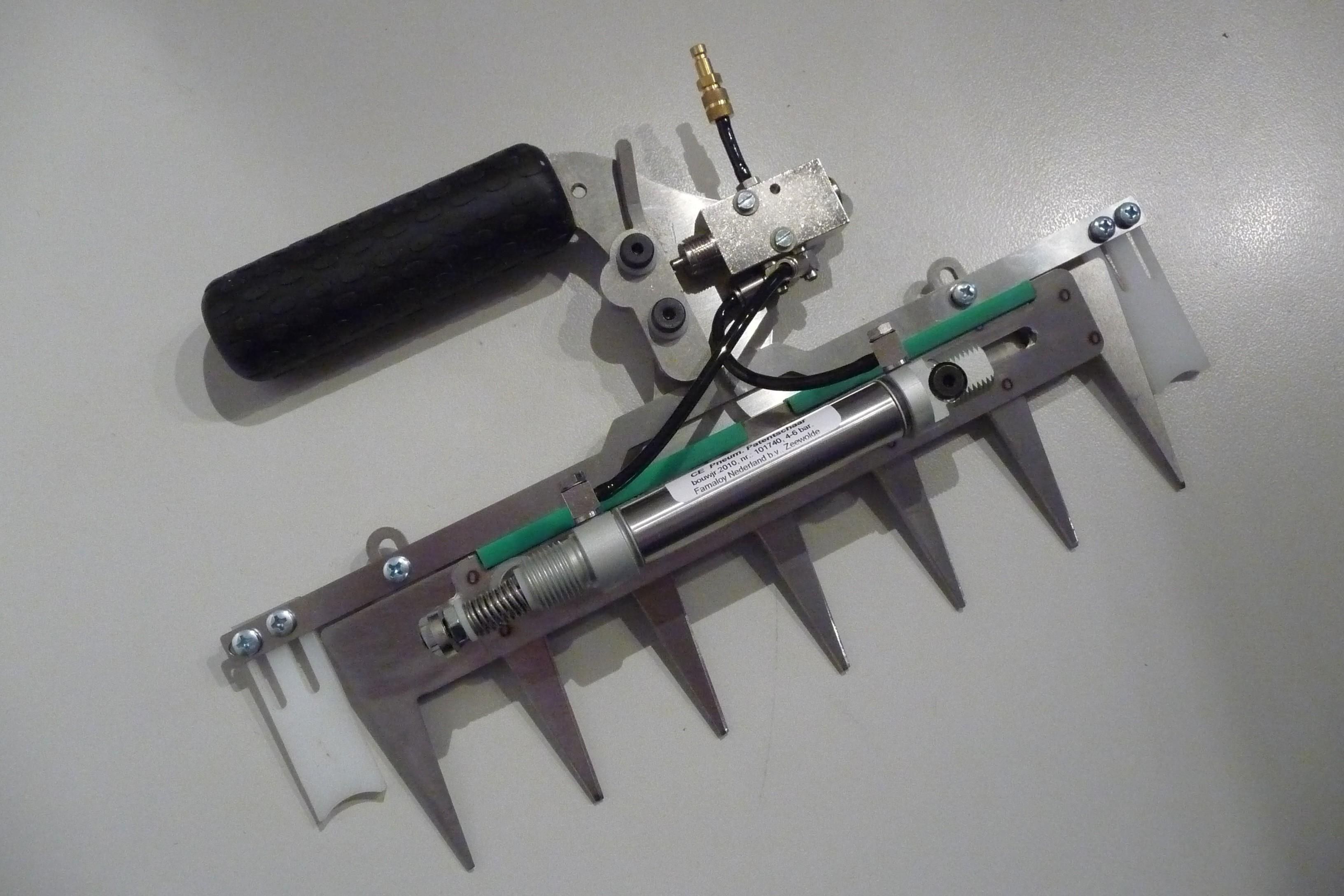Patentschaar® Pneumaat RVS 260 mm lang, steek 40 mm, 7 tanden