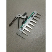 Patentschaar® Handmodel RVS 246 mm lang, steek 29 mm, 9 tanden