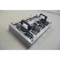 Patentschaar® - Meerlingschaar met Knipgeleider RVS voor 4 scharen met twee-handen beveiliging. Prijs is indicatief.