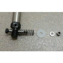 Patentschaar®  Pneumaat Geslepen Passchroef, ISO 7379, M5 x 6 x 30 mm Compleet voor Cilinderbevestiging.