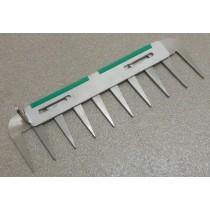 Patentschaar®  Messenset compleet voor pneum. bediende scharen van 266.5 mm lang, steek 28 mm, 10 tanden