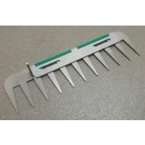 Patentschaar®  Messenset compleet voor pneum. bediende scharen van 294.5 mm lang, steek 28 mm, 11 tanden