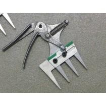 Patentschaar® Pneumaat RVS 97,5 mm lang, steek 28 mm, 4 tanden
