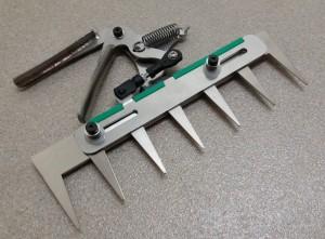 Patentschaar® Handmodel RVS 260 mm lang, steek 40 mm, 7 tanden